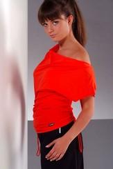 Fitness tričko Atena red