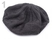 Baret pletený KATRIN (1 ks)