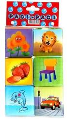 Kostky MĚKKÉ SOFT barevné 6 ks v sáčku