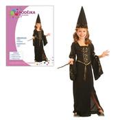 Dětský kostým ČARODĚJKA vel.S (110-120 cm)