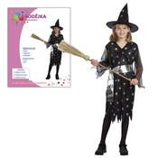 Dětský kostým ČARODĚJKA vel.M (120-130 cm)