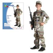 Dětský kostým VOJÁK vel.M (120-130 cm)