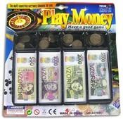 Dětské peníze CZ (papírové + mince) v zásobníku