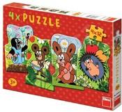 Puzzle 4 x 12 dílků KRTEK a kamarádi Krteček