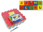 Měkké bloky puzzle na zem 8 ks 30 x 30 cm ZVÍŘÁTKA