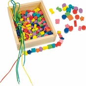 """Dřevěná krabička """"Navlékací perle"""" (200 perlí)"""