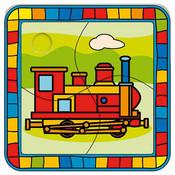 Puzzle lokomotiva SKLÁDAČKA 4 díly
