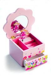 Toaletní skříňka PRINCESS hrající dětská - šperkovnice
