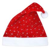 Čepice vánoční s hvězdičkami - dospělý