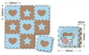 Koberec soft puzzle 9 ks TVARY