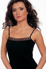 Spodní košilka Vera black ramínka