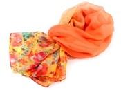 Šifonový šátek s květy 140x140 cm