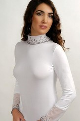 Halenka Inez white - dlouhý rukáv