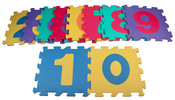 Merco pěnové puzzle Čísla kód 9407 F pro děti od 10 měsíců