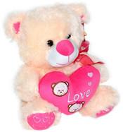 Plyšový medvídek se srdcem 30cm