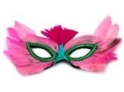 Karnevalová maska péřová (1 ks)