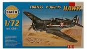 Model letadlo Curtiss P-36 1:72 (stavebnice letadla)