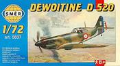 Model letadlo Dewoitine D520 1:72 (stavebnice letadla)