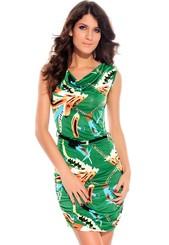 Letní šaty s páskem d-sat03ze