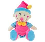 Plyšový klaun 34cm modro-ruzovy