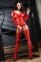 Bodystocking Corra red