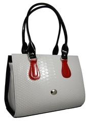 Elegantní tříbarevná kroko kabelka S61