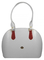 Bílá kroko kabelka na rameno S324