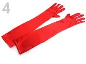 Společenské saténové rukavice 45 cm