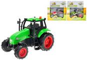 Traktor kovový 12 cm se světlem a zvukem na setrvačník