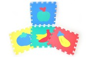 Měkké bloky/puzzle na zem 30 x 30 ovoce