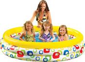 Bazén s kruhy nafukovací 168 x 41 cm