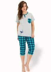 Dámské pyžamo s capri kalhotami Sonia