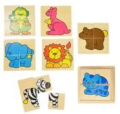 Puzzle dřevěné zvířátka