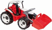 Traktor se lžící červeno - bílý 62 cm na písek