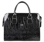 Dámská luxusní taška na notebook černý lak kroko ST01