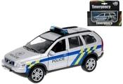 Policejní auto kov POLICIE Volvo XC-90 1:43 Světlo Zvuk