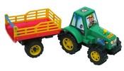 Traktor plastový s vlečkou SIANO 40 cm