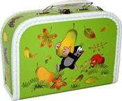 Kufr krteček světle zelený malý kufřík