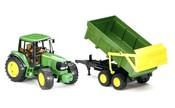 Traktor JOHN DEERE + sklápěcí valník