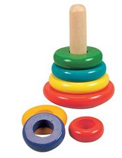 Skládací pyramida barevné kroužky
