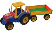 Traktor s vlekem FARMER na písek