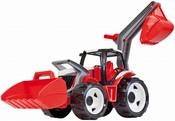 Traktor se lžící a bagrem červenobílý