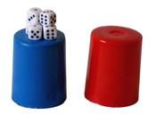 Hrací kostky s kelímkem