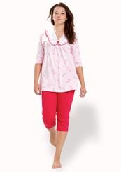 Dámské pyžamo s capri kalhotami Irena