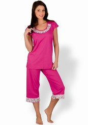 Dámské pyžamo s capri kalhotami Paulina