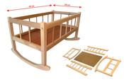 Kolébka dřevěná 50 x 28 cm