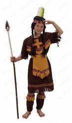 KARNEVAL Šaty INDIÁNKA vel.S (110-120 cm)