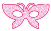 Maska papírová princezna 6 ks