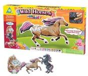 Obrázky koně kreativní 3 ks, +3000 dílků