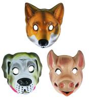 Maska plastová zvířátka real 3 druhy